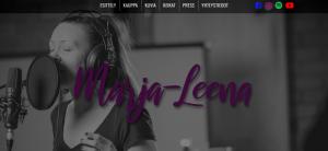 Laulaja-lauluntekijä Marja-Leenan verkkosivut ja brändäys